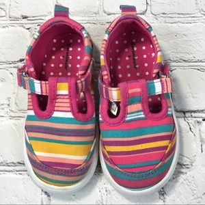 Garanimals Stripe T-strap Girls Sneaker Sz 6